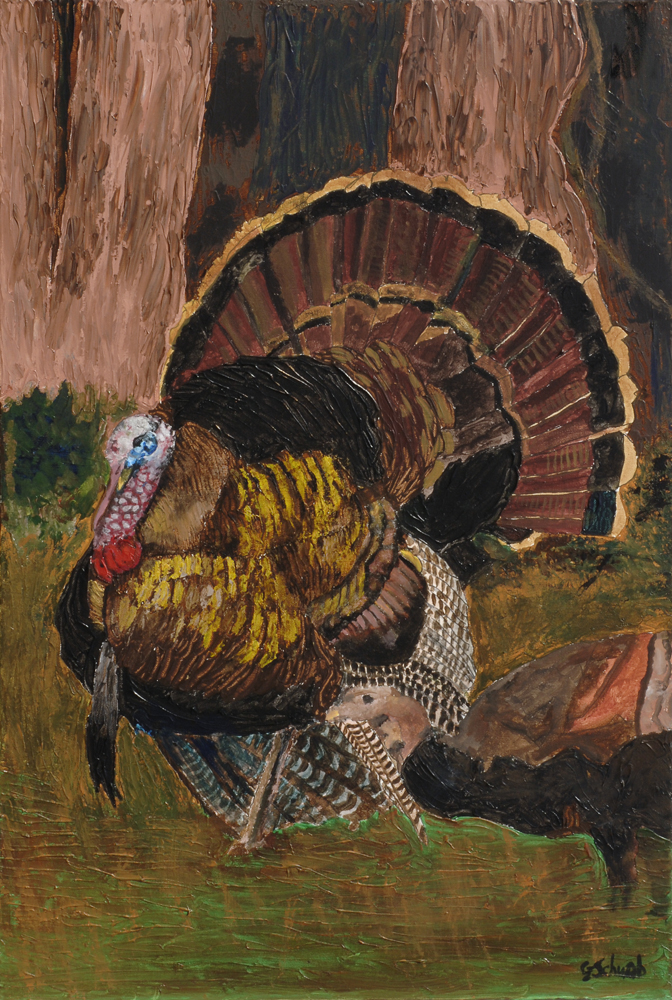 Daddy Gobbler - 24x36 Acrylic on Stretched Canvas with Image Wrap Border
